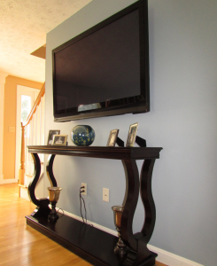 Living Room Redesign with Mounted Television