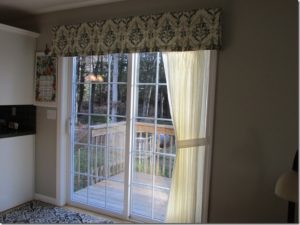 Sheer panel and a valance