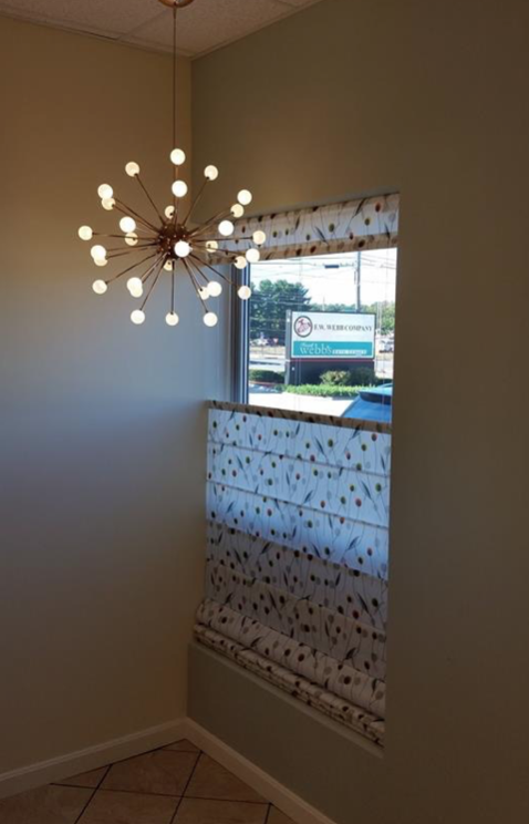 Frank Webb Bath and Lighting Center in Manchester Window Treatment