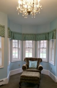 Custom Valances & Pillow - Duralee Fabric & Michaels Textile Trims