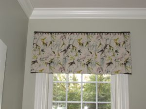 Kick-pleated Valance w/Nailheads for Powder Room