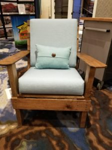 Sunbrella® Fabric on The Rugged Bench Adirondack